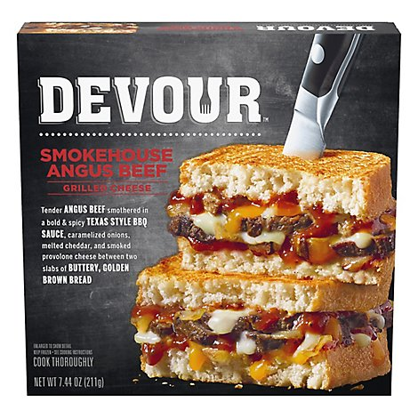 DEVOUR Smokehouse Angus Beef Grilled Cheese - 7.44 Oz