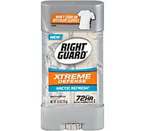 Right Guard Extreme Defense 5 Antiperspirant & Deodorant Gel Arctic Refresh - 4 Oz