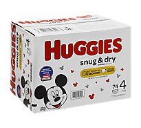 Huggies Snug & Dry Diapers Plus Wetness Indicator Size 4 - 74 Count
