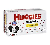 Huggies Snug & Dry Diapers Plus Wetness Indicator Size 5 - 132 Count
