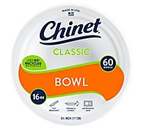 Chinet Bowl 16 Oz - 60 Count