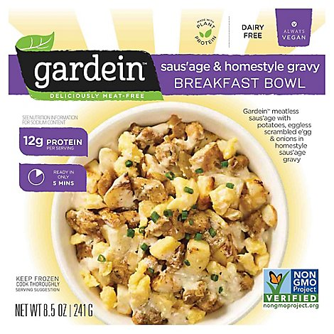 Gardein Breakfast Bowl Sausage & Homestyle Gravy - 8.5 Oz