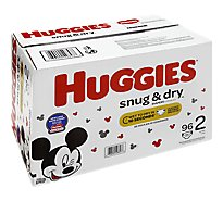 Huggies Snug & Dry Diapers Plus Wetness Indicator Size 2 - 96 Count