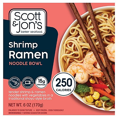 Scott And Jons Shrimp Ramen Noodle Bowl - 6 Oz