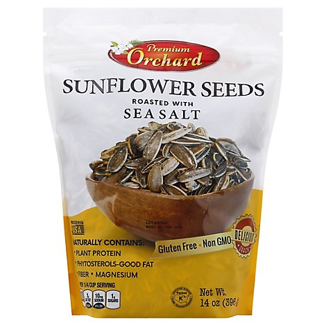 Premium Orchard Sunflower Seeds Roasted With Sea Salt - 14 Oz