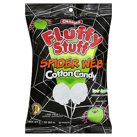 Charms Cotton Candy Fluffy Stuff Spider Web - 2.1 Oz