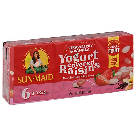 Sun-Maid Raisins Yogurt Flavored Strawberry & Vanilla - 6-1 Oz