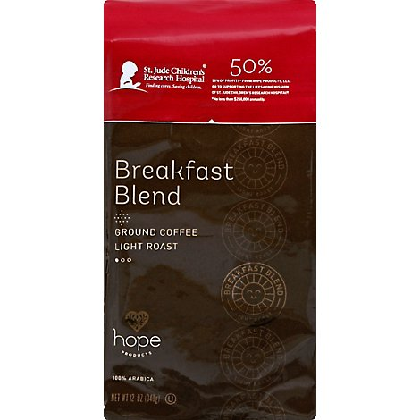 Hope Prod Coffee Brkfst Blnd Grnd - 12 Oz