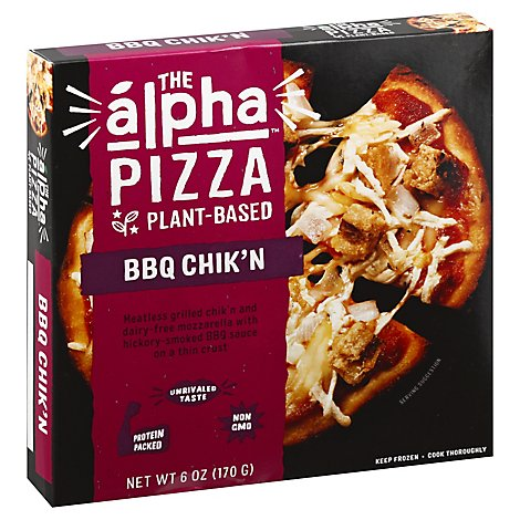 Alpha Foods Pizza Plant Based Bbq Chikn - 6 Oz