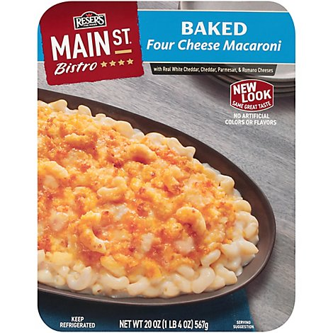 Resers Fine Foods Main St Bistro Macaroni Baked Four Cheese - 20 Oz