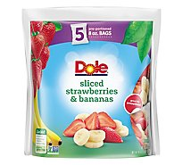 Dole Strawberries & Bananas Sliced - 5-8 Oz