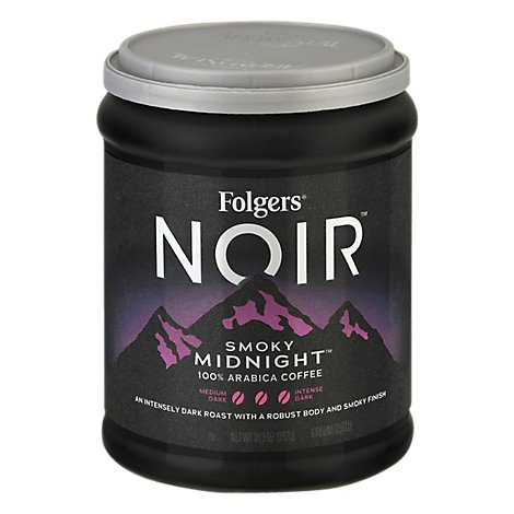 Folgers Noir 10.3 Ounce Caffeinated Ground Smoky Midnight - 10.3 Oz