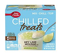 Betty Crocker Chilled Treats Mix & Topping Key Lime Mousse With Lime Drizzle - 8.9 Oz