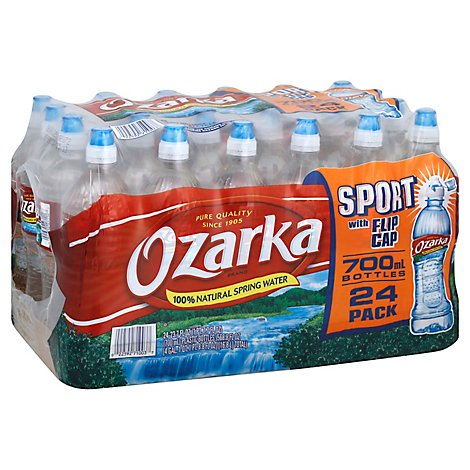 Ozarka Spring Water Natural Sport With Flip Cap - 24-23.7 Fl. Oz.