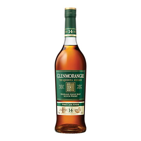 Glenmorangie Scotch Whisky Quinta Ruban Port Cask Finish 14 Years Old Single Malt - 750 Ml