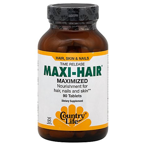 Country Life Maxi Hair Time Release Tablets - 90 Count