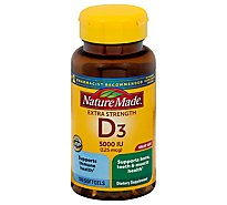 Nature Made Vitamin D3 Softgels Extra Strength 125 mcg - 180 Count