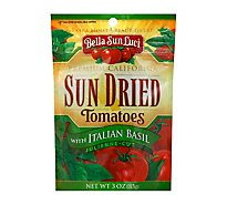 Bella Sun Luci Tomatoes Sun Dried With Italian Basil Julienne Cut - 3 Oz
