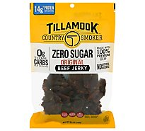 Tillamook Country Smoker Jerky Beef Zero Sugar Original - 6.5 Oz