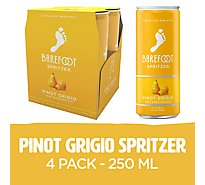 Barefoot Spritzer Pinot Grigio White Wine Cans - 4-250 Ml