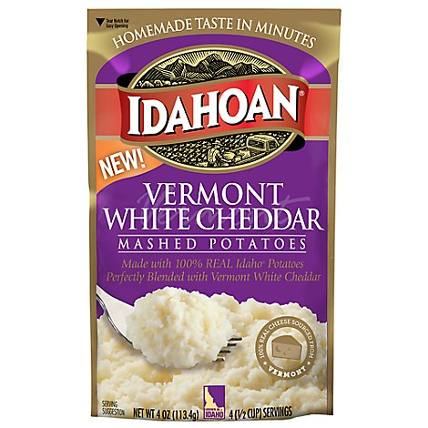 Idahoan Mashed Potatoes Vermont White Cheddar - 4 Oz
