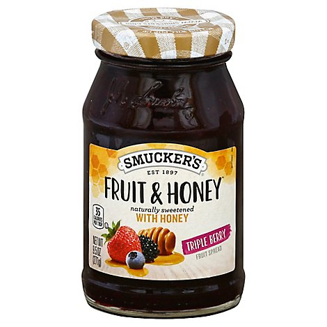Smucker Fruit And Honey Triple Berry - 9.5 Oz