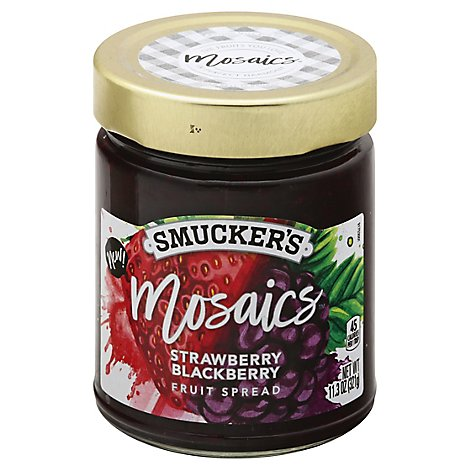 Smuckers Mosaics Fruit Spread Strawberry Blackberry - 11.3 Oz