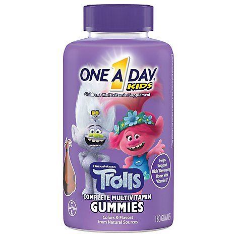 One A Day Kids Multivitamin Gummies Complete Trolls - 180 Count