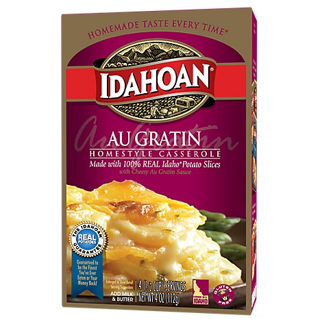 Idahoan Homestyle Casserole Au Gratin With Cheesy Au Gratin Sauce - 4 Oz