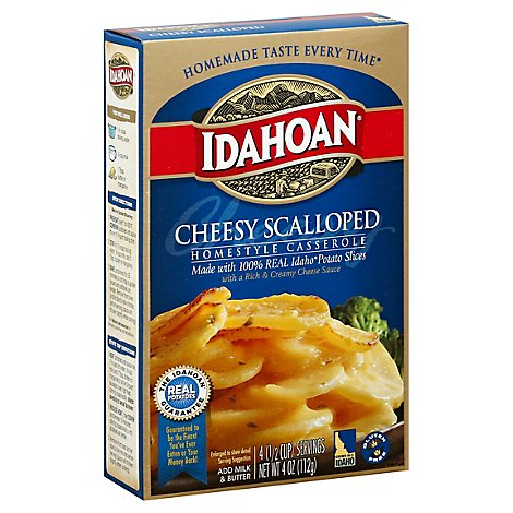 Idahoan Homestyle Casserole Cheesy Scalloped with Creamy Cheese Sauce - 4 Oz