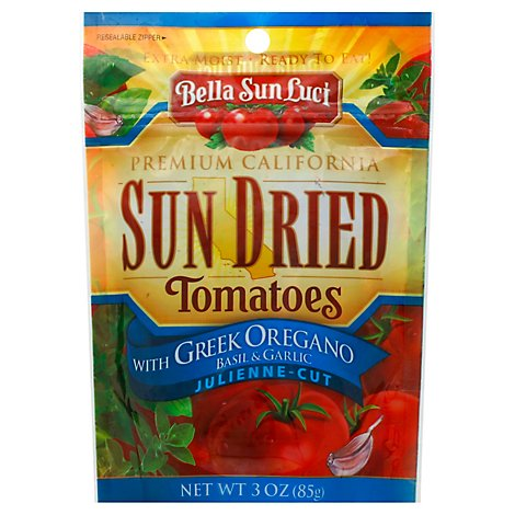 Bella Sun Luci Tomatoes Sun Dried With Greek Oregano Basil & Garlic Julienne Cut - 3 Oz