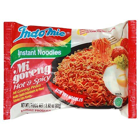 Indomie Instant Noodles Mi Goreng Hot & Spicy - 2.82 Oz