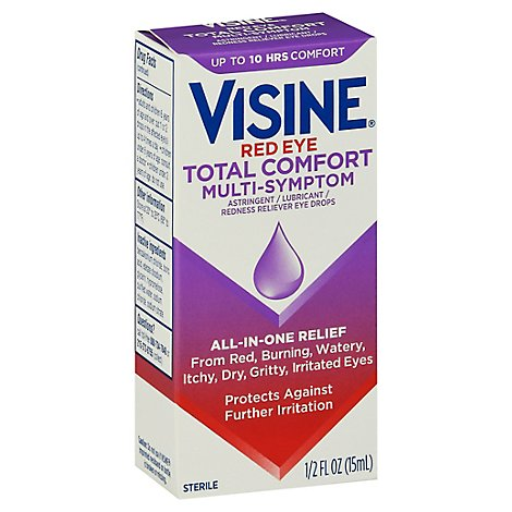 VISINE Eye Drops Red Eye Total Comfort Multi Symptom - 0.5 Fl. Oz.