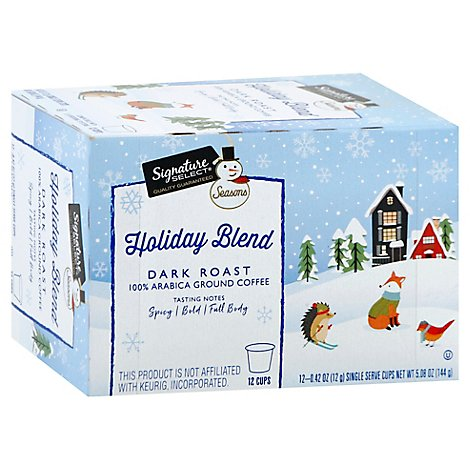 Signature Select Coffee Pod Holiday Blend - Each