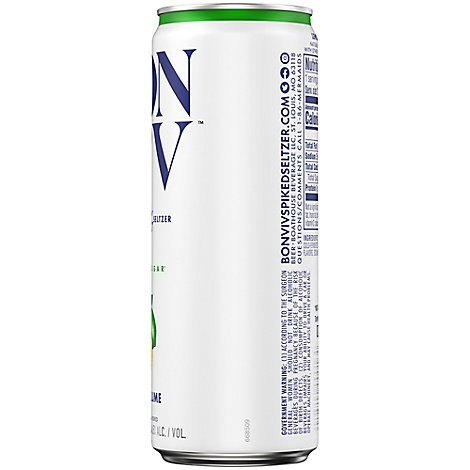 BON V!V Spiked Seltzer Lemon Lime - 12 Fl. Oz.
