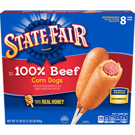 State Fair 100% Beef Corn Dogs - 21.36 Oz