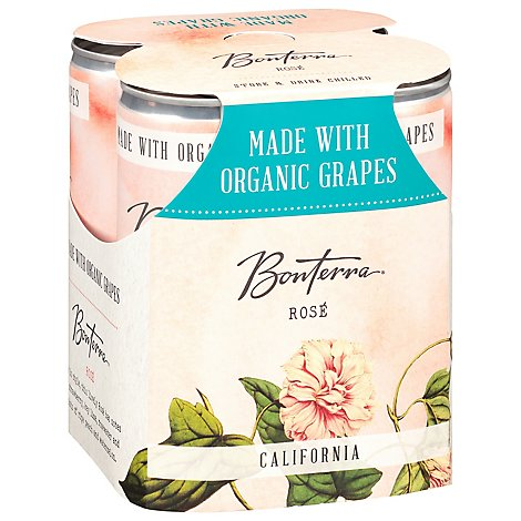 Bonterra Wine Organic Rose California Cans Multipack - 4-250 Ml