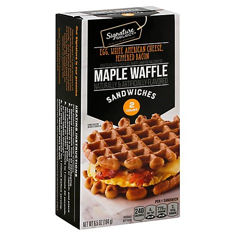 Signature Select Sandwich Maple Waffle Bacon Egg Cheese - 6.5 Oz