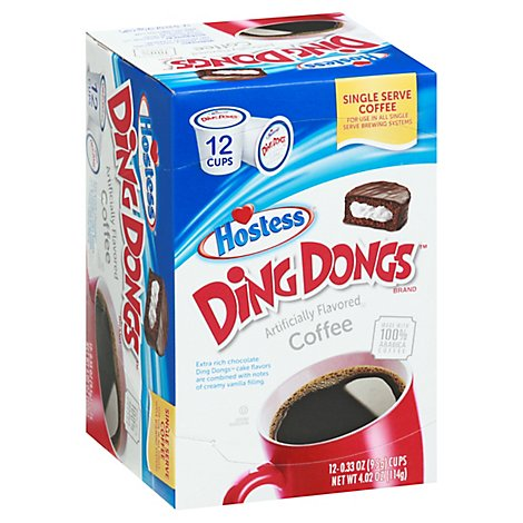 Ding Dong Ss Coffee Pods - 12 Each