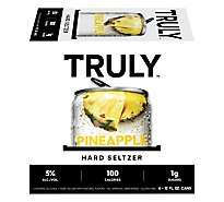 Truly Hard Seltzer Spiked & Sparkling Water Pineapple 5% ABV Slim Cans - 6-12 Fl. Oz.