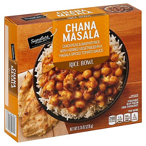 Signature Select Bowl Rice Chana Masala - 9.75 Oz