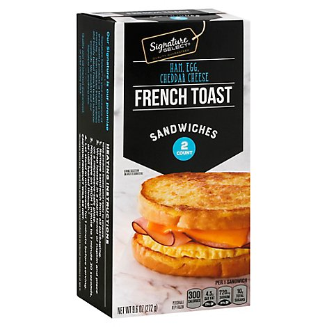 Signature Select Sandwich French Toast Ham Egg Cheese - 9.6 Oz