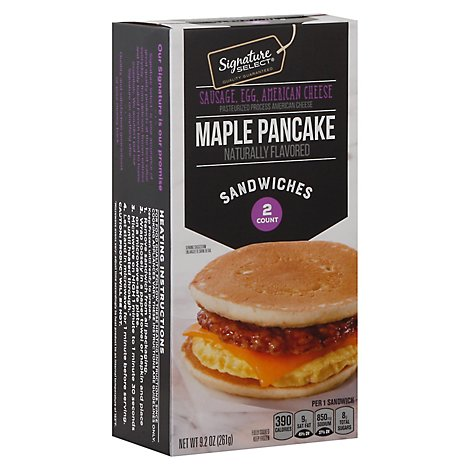 Signature Select Sandwich Maple Pancake Sausage Egg Cheese - 9.2 Oz