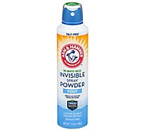 Arm & Hammer Invisible Foot Powder Spray - 7 Oz