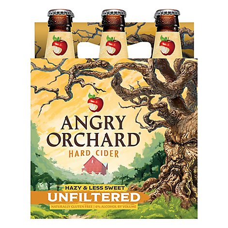 Angry Orchard Unfiltered Bottles - 6-12 Fl. Oz.