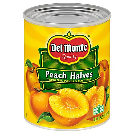 Del Monte Peach Halves In Heavy Syrup - 29 Oz
