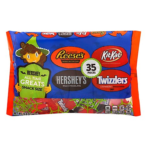HERSHEYS Chocolate Candy Snack Size 35 Count - 15.8 Oz