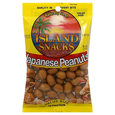 Island Snacks Peanuts Japanese Value Size - 6 Oz