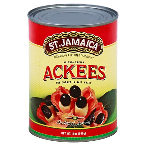 St. Jamaica Ackees Pre Cooked In Salt Water - 19 Oz
