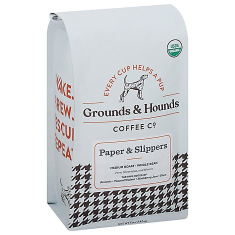 Grounds & Hounds Coffee Paper & Slippers Wb - 12 Oz
